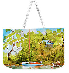 Yacht Weene' In Barnes Bay  Weekender Tote Bag