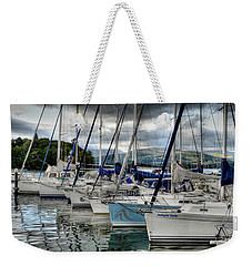 Yachts On Lake Windermere Weekender Tote Bag