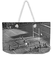 Yale Attempts Forward Pass Weekender Tote Bag by Underwood Archives