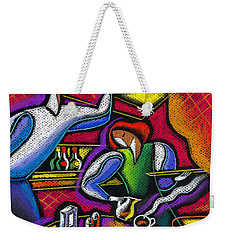 Weekender Tote Bag featuring the painting  Yam Food And Drink by Leon Zernitsky