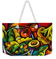 Yammy Salad Weekender Tote Bag by Leon Zernitsky