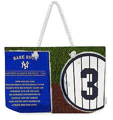 Yankee Legends Number 3 Weekender Tote Bag by David Lee Thompson