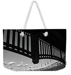 Yankee Stadium Facade - B And W Weekender Tote Bag