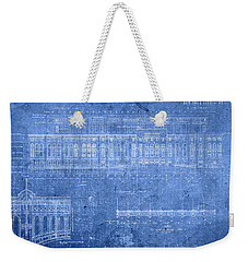 Yankee Stadium New York City Blueprints Weekender Tote Bag