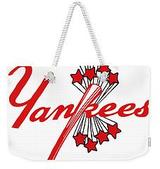 Yankees Vintage Weekender Tote Bag by Gina Dsgn