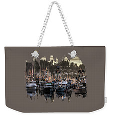 Weekender Tote Bag featuring the photograph Yaquina Bay Boat Basin At Dawn by Thom Zehrfeld
