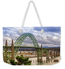 Weekender Tote Bag featuring the photograph Yaquina Bay Bridge by James Eddy