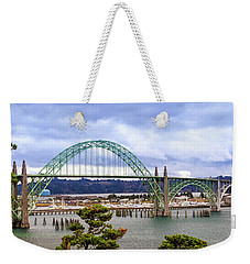 Yaquina Bay Bridge Panorama Weekender Tote Bag