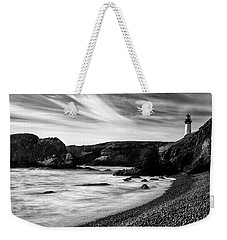 Yaquina Head Lighthouse 1 Black And White Weekender Tote Bag