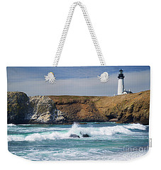 Yaquina Head Lighthouse On The Oregon Coast Weekender Tote Bag