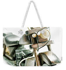 Yard Sale Wooden Toy Motorcycle Weekender Tote Bag by Wilma Birdwell