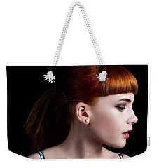 Weekender Tote Bag featuring the photograph Yasmin Studio Right by Ian Thompson