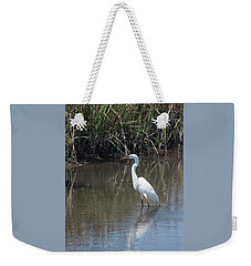 Weekender Tote Bag featuring the photograph Yawkey Wildlife Refuge - Great White Egret II by Suzanne Gaff