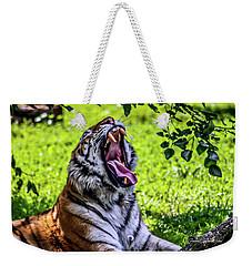 Yawning Tiger Weekender Tote Bag