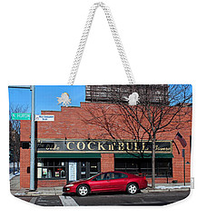Weekender Tote Bag featuring the photograph Ye Olde Cock N Bull by Michiale Schneider