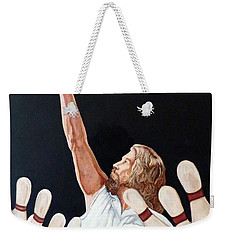 Weekender Tote Bag featuring the painting Yeah Yeah Oh Yeah by Tom Roderick