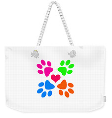 Weekender Tote Bag featuring the digital art Year Of The Dog by Zaira Dzhaubaeva