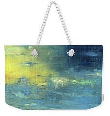 Weekender Tote Bag featuring the painting Yearning Tides by Michal Mitak Mahgerefteh