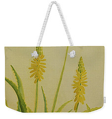 Yellow Aloe Weekender Tote Bag