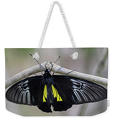 Yellow And Black Butterfly Weekender Tote Bag
