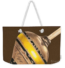 Yellow And Black Top Weekender Tote Bag