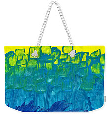 Yellow And Blue Weekender Tote Bag