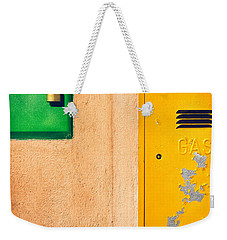 Weekender Tote Bag featuring the photograph Yellow And Green by Silvia Ganora