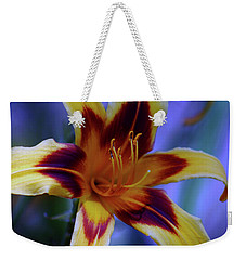 Yellow And Orange And Garnet Daylilies 1270 H_2 Weekender Tote Bag