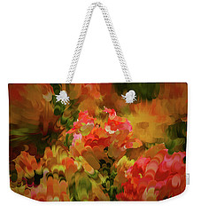 Weekender Tote Bag featuring the digital art Yellow And Orange #h6 by Leif Sohlman