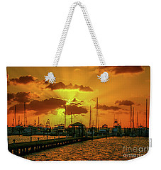 Yellow And Orange Rays Weekender Tote Bag