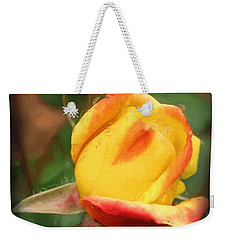 Yellow And Orange Rosebud Weekender Tote Bag