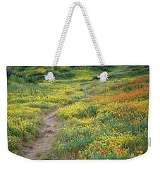 Weekender Tote Bag featuring the photograph Yellow And Orange Wildflowers Along Trail Near Diamond Lake by Jetson Nguyen