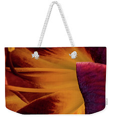 Yellow And Purple Weekender Tote Bag by Jay Stockhaus