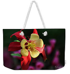 Yellow And Red Columbine Weekender Tote Bag