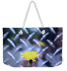 Yellow And Silver Weekender Tote Bag