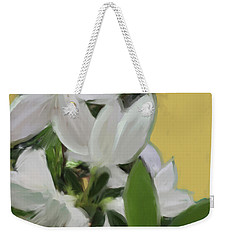 Yellow And White Flower Art 1  Weekender Tote Bag