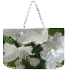Yellow And White Flower Art 2 Weekender Tote Bag