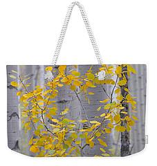 Yellow Aspen Tree Weekender Tote Bag