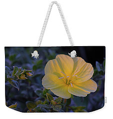 Weekender Tote Bag featuring the photograph Yellow Beach Evening Primrose by Marie Hicks