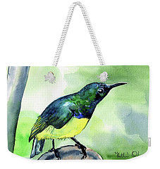 Yellow Bellied Sunbird Weekender Tote Bag