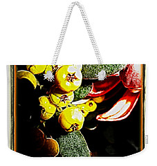 Weekender Tote Bag featuring the photograph Yellow Berries by Joan  Minchak