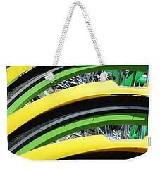 Yellow Bike Fenders Weekender Tote Bag