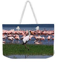 Yellow Billed Stork Weekender Tote Bag by Aidan Moran