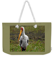 Weekender Tote Bag featuring the photograph Yellow-billed Stork by Betty-Anne McDonald