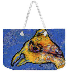 Weekender Tote Bag featuring the digital art Yellow Bird by Claire Bull