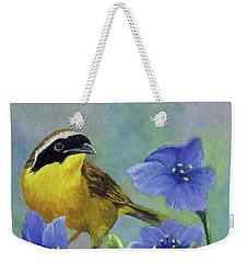 Yellow Bird Weekender Tote Bag by Roseann Gilmore