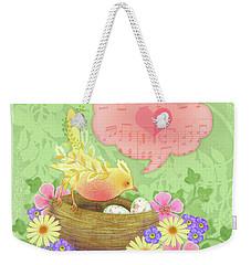 Yellow Bird's Love Song Weekender Tote Bag