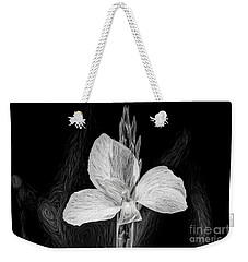 Yellow Black And White Weekender Tote Bag