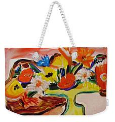 Yellow Blown Glass Vase Weekender Tote Bag
