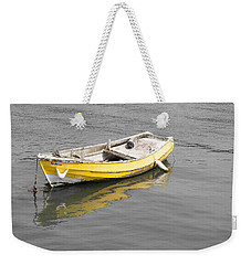 Yellow Boat Weekender Tote Bag by Helen Northcott